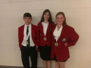 Photograph of the Students who won the SkillsUSA award