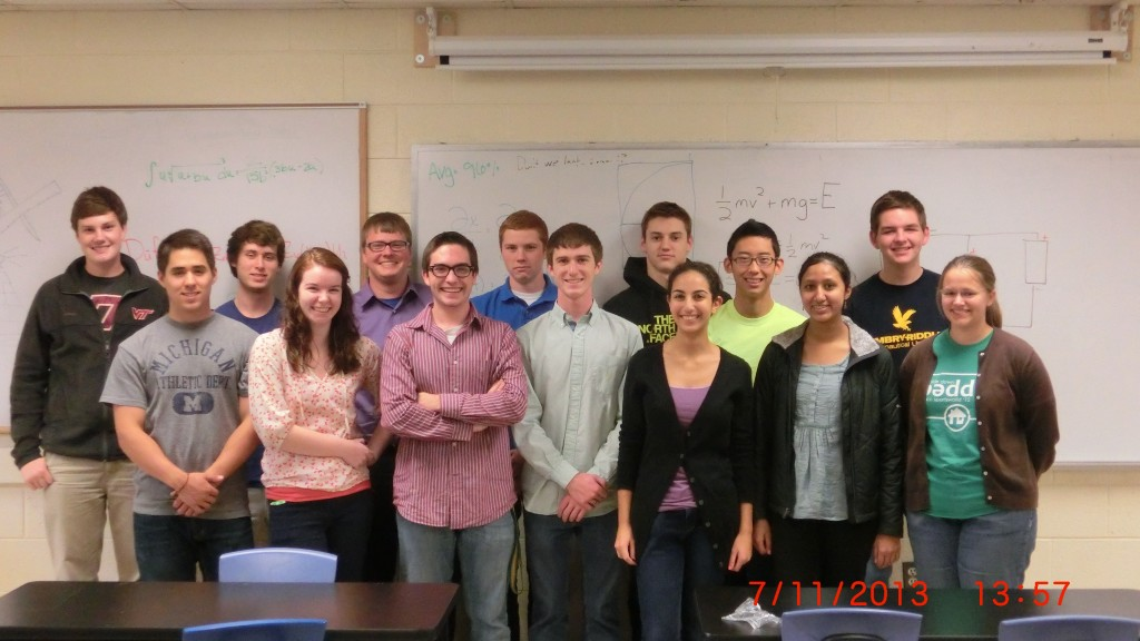 Second Row [from left]: Bobby Smyth, Danny McNamara, Richard Kazmer, Scot Mackenzie,  Ben Cratsley, Sam Kim, Brady Reisch First Row [from left]: Justin Cloutier, Katie Jordan, William Archer, Stephen Haggard, Sarah Selim, Manisha Iruvanti, Bethany Wissmann