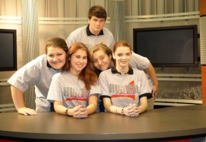 Gloucester High School's TV III Students (l to r): Amiee Brock, Liz Safranek, Luke Herrman, Shelby Giddings, and Molly Fanning.  Ms. Catrona Hill is the Instructor.