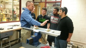 George Kessler working with students at Clear Creek High School
