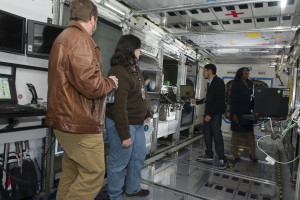 HUNCH students taking tour at MSFC