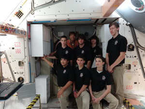Clear Creek HUNCH students in the training mockup facility they designed