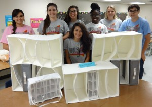 Oak Ridge HUNCH students fabricated the Food Pantry Systems