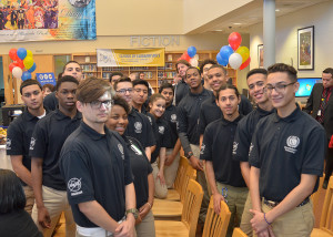Manufacturing Technology students gather at PCTI's NASA HUNCH kick-off event.